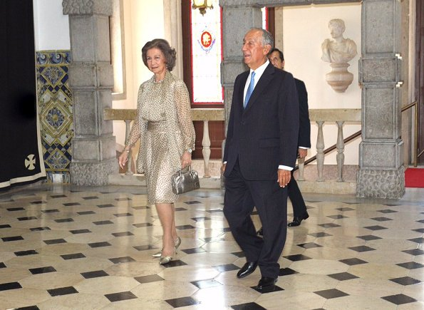 Portuguese President Marcelo Rebelo de Sousa and Queen Sofia at Alzheimer's Global Summit Lisbon 2017