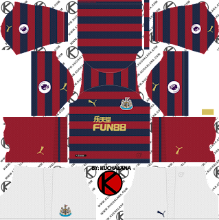 and the package includes complete with home kits Baru!!! Newcastle United FC 2018/19 Kit - Dream League Soccer Kits