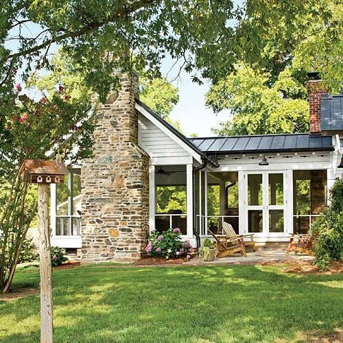 Best Screened Porch W Fireplace Content In A Cottage