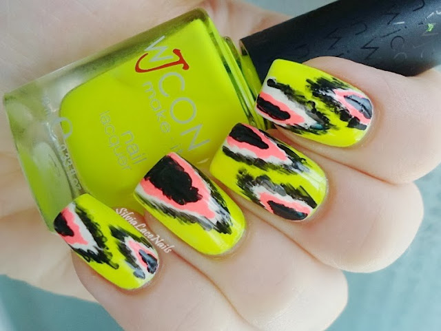 Silvia Lace Nails: neon Ikat