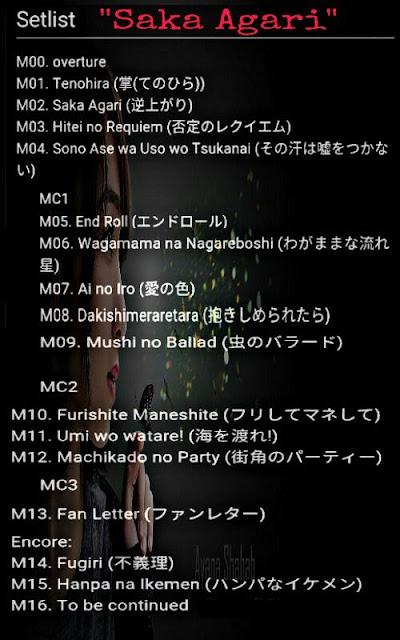 Setlist Theater Saka Agari JKT48 Team KIII
