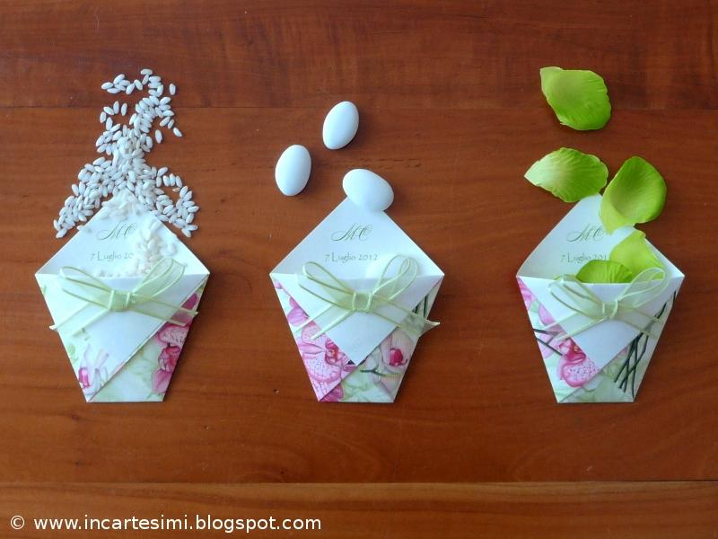 Popolare Incartesimi: Bustine origami portaconfetti, portariso o  XH09