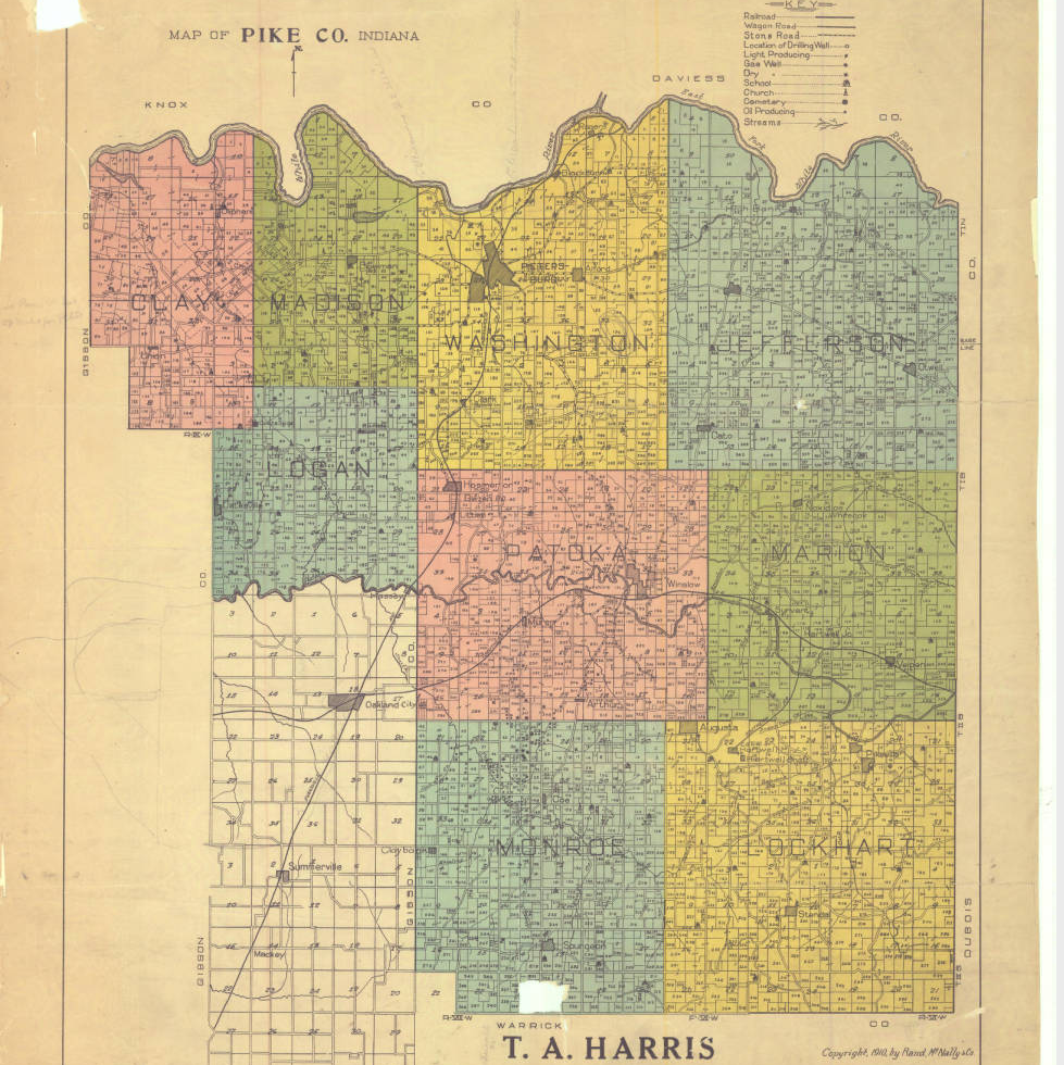 Pike County Indiana Map.A Grave Interest Haunted Blackfoot Cemetery