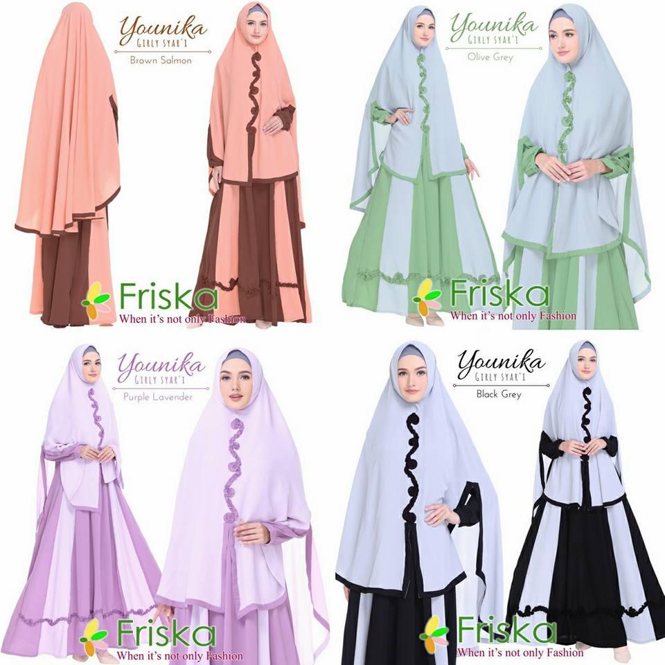 Younika Syari By Friska Melody Fashion Aretha Tunik 4warna