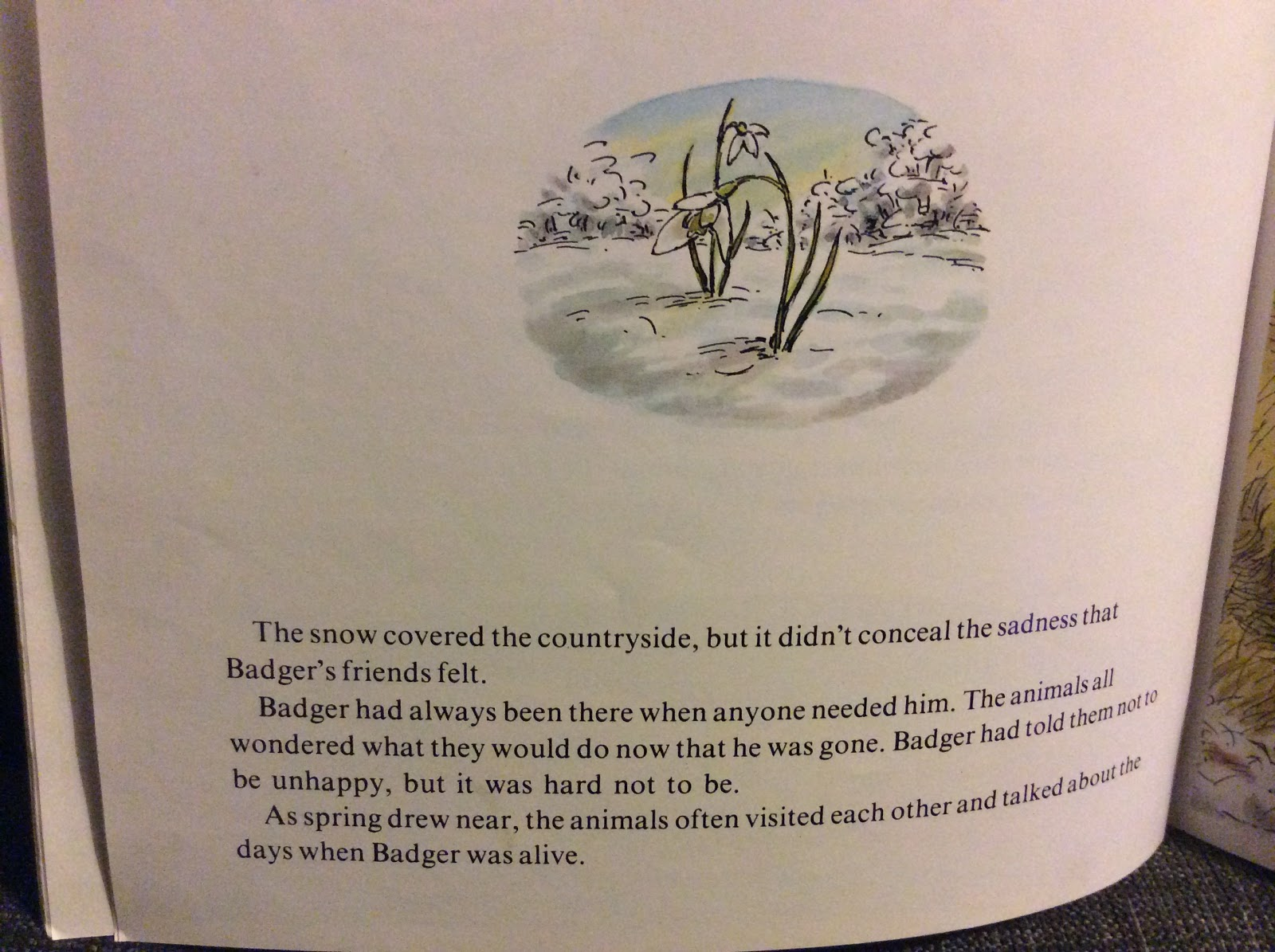 What fred read reviews and celebration of books for young children book ends with mole on a warm spring day on the hillside looking up at the sky and thanking badger for these gifts and were reassured that badger fandeluxe Images