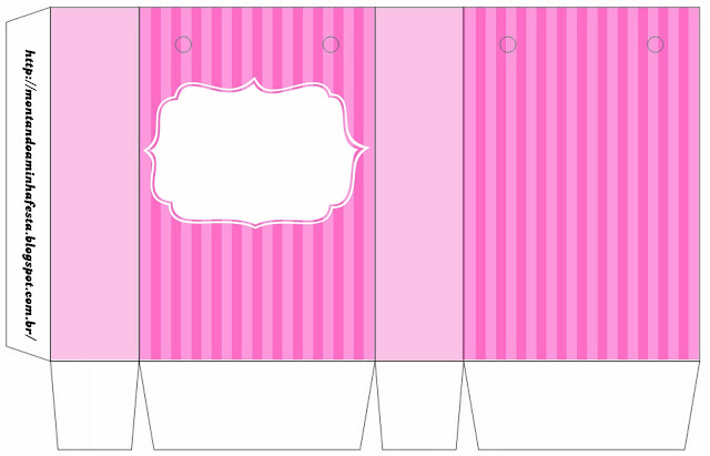 photo regarding Printable Boxes titled Crimson Stripes: Absolutely free Printable Containers. Oh My Quinceaneras!