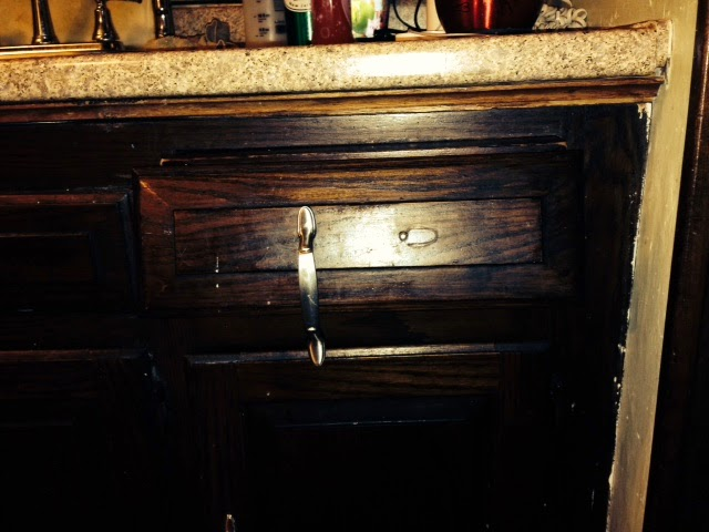 Fixing Saggy Kitchen Drawers - One Brown Mom