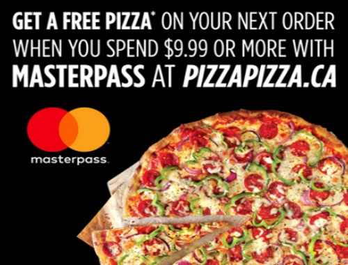 Pizza Pizza Free Small Pizza With MasterPass