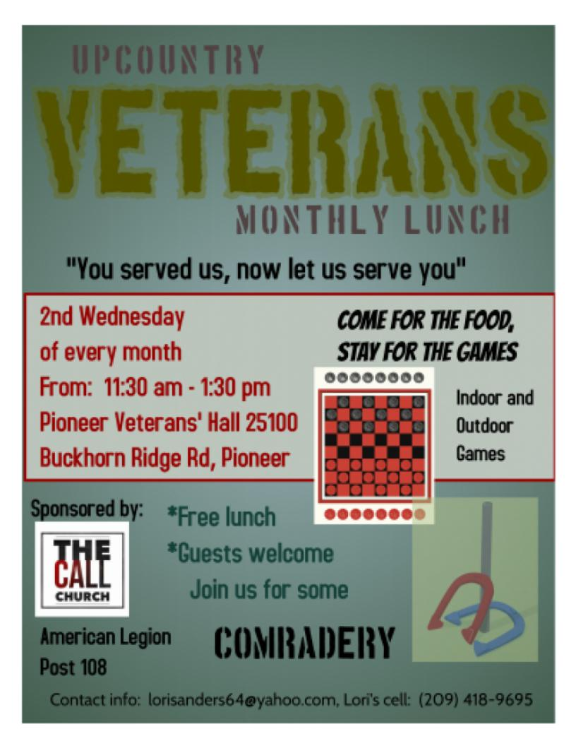 upcountry veterans lunch wed aug 8