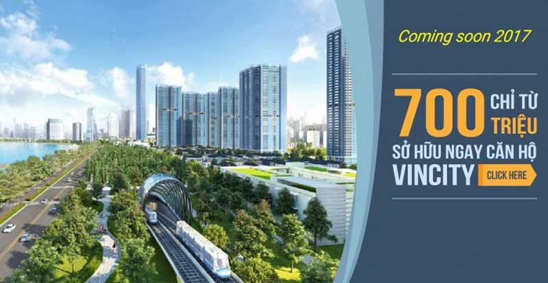 Phối cảnh căn hộ Vincity Quận 9 giá chỉ từ 700 triệu