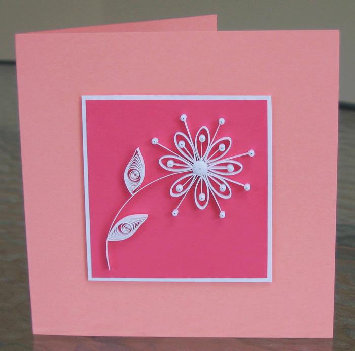 quilled retro daisy card tutorial