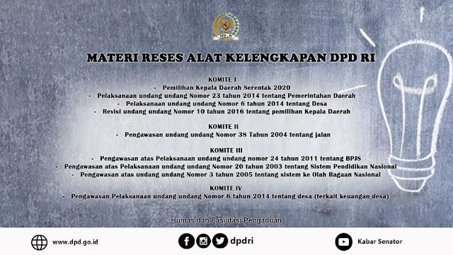 Materi Reses DPD RI