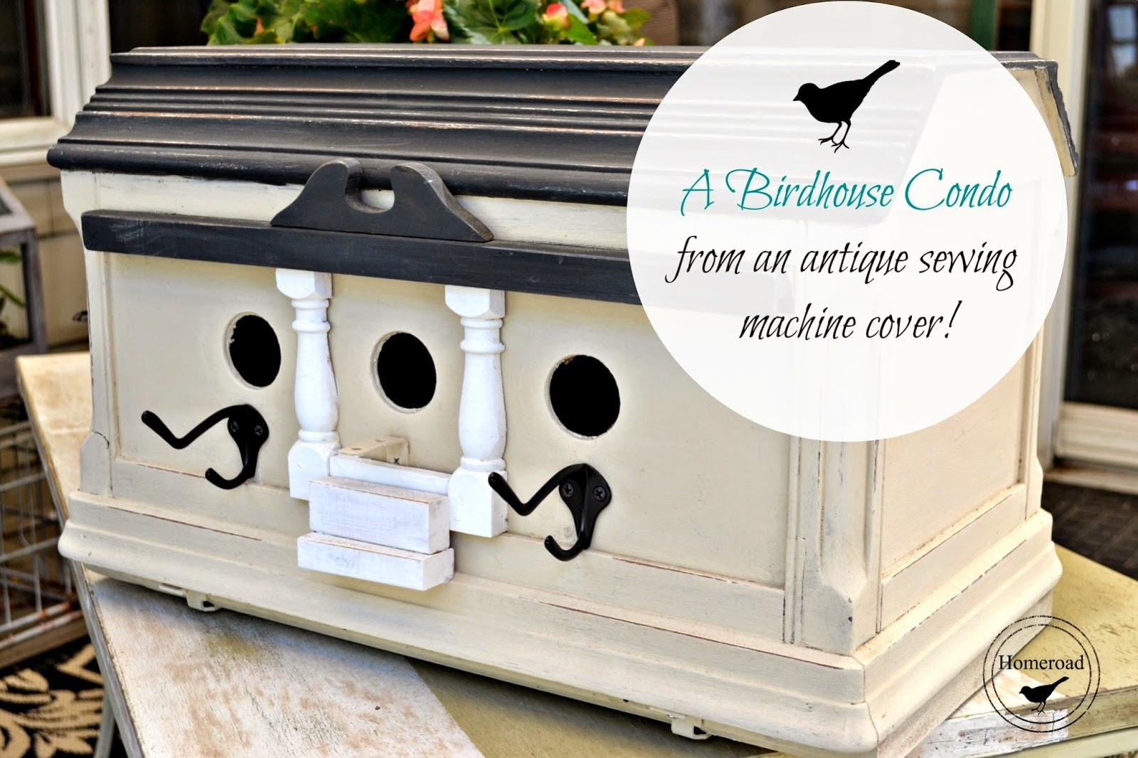 A Repurposed Birdhouse Condo www.homeroad.net