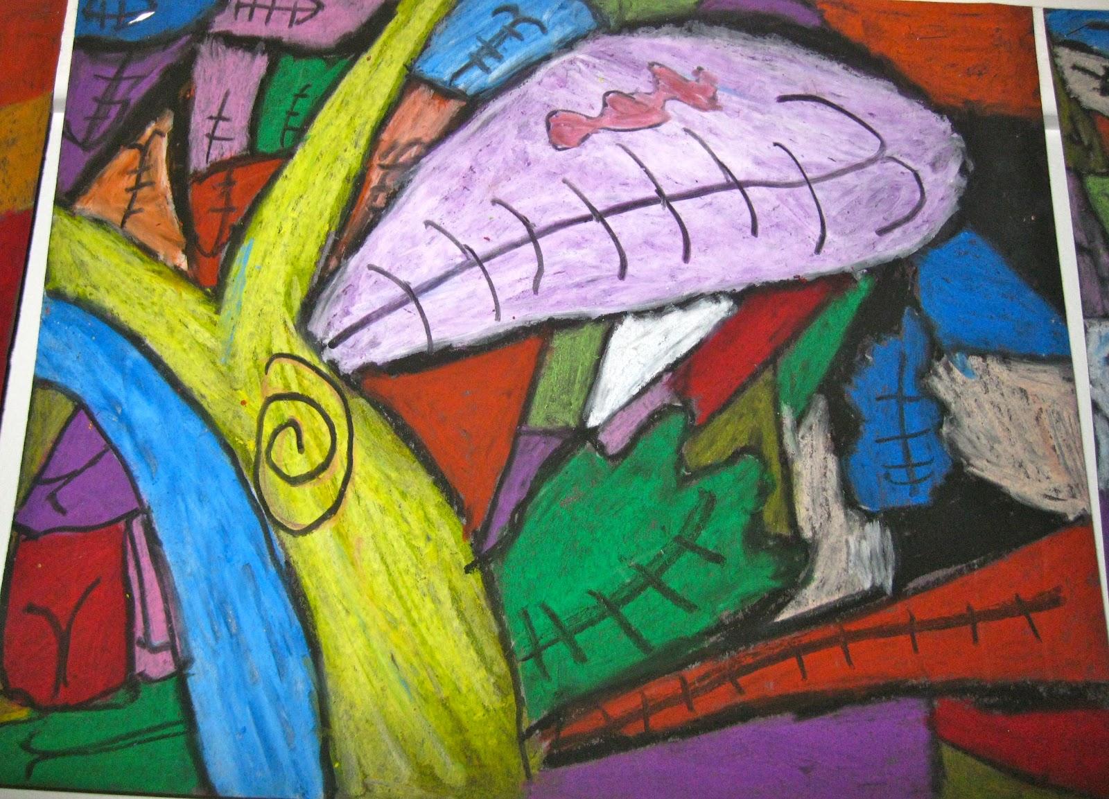 Angie Villa Art Amp Education Abstract Trees Grade 5