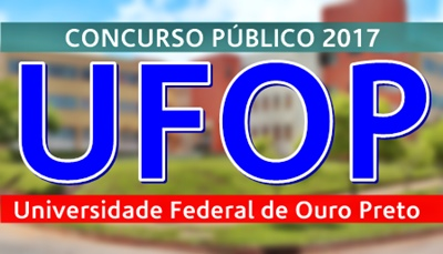 concurso UFOP MG 2017