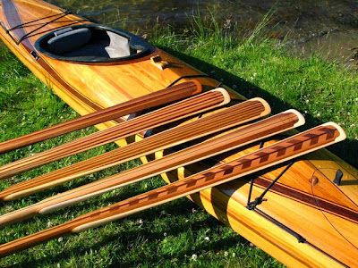 Greenland Paddles & Wood Strip Kayak