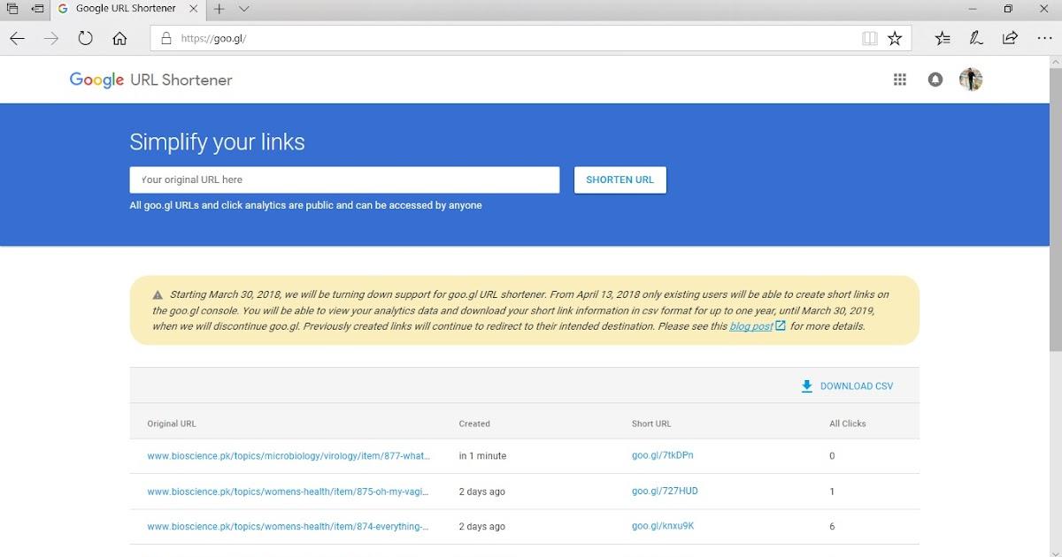 Google Is Terminating Its URL Shortener Service (Goo gl