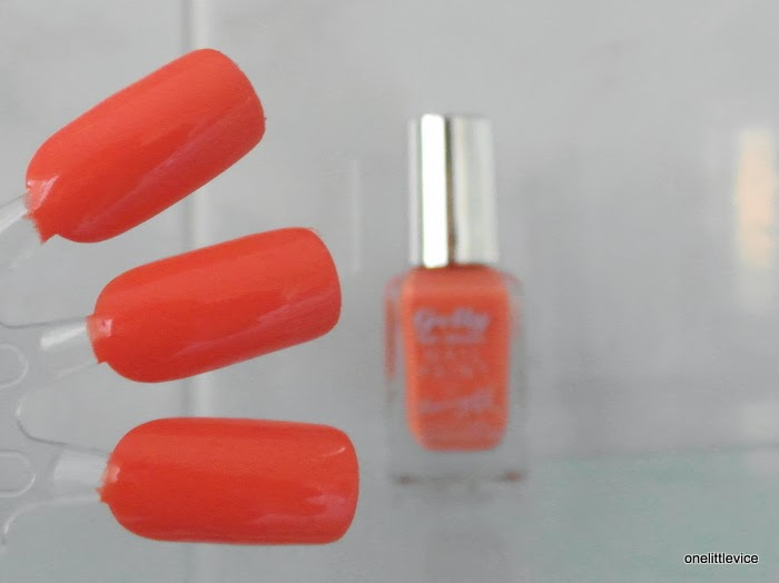 swatch and review drugstore gel polish coral pink orange