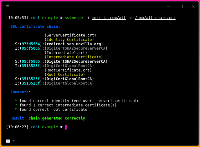 Sslmerge - Tool To Help You Build A Valid SSL Certificate Chain From ...