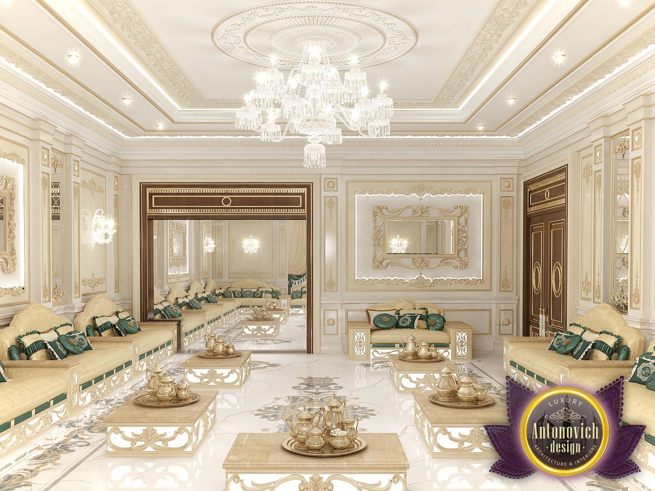 Nigeiradesign arabic majlis interior design from luxury for Luxury interior design