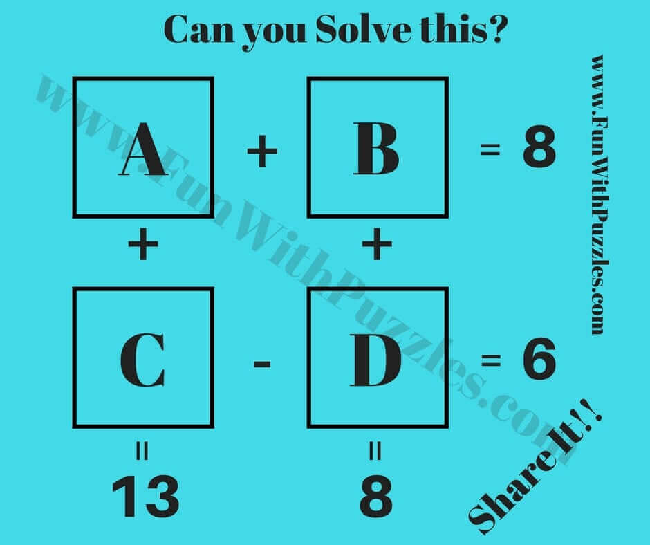 Logic Maths IQ Questions with Answers-Brain Teasers Puzzles Riddles