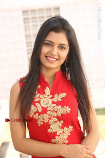 Telugu Actress Priyanka Jain Stills in Red Dress at Amazing Arts Production no 1 Movie Opening  0003.JPG