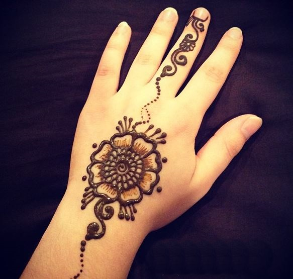 henna flower simple designs for hands makedescom