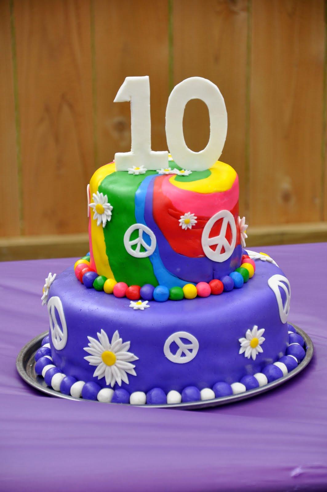 Sweet Cakes Tie Dye Cake