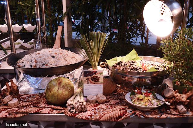 Laksa Johor and Nasi Minyak Rendang Tok