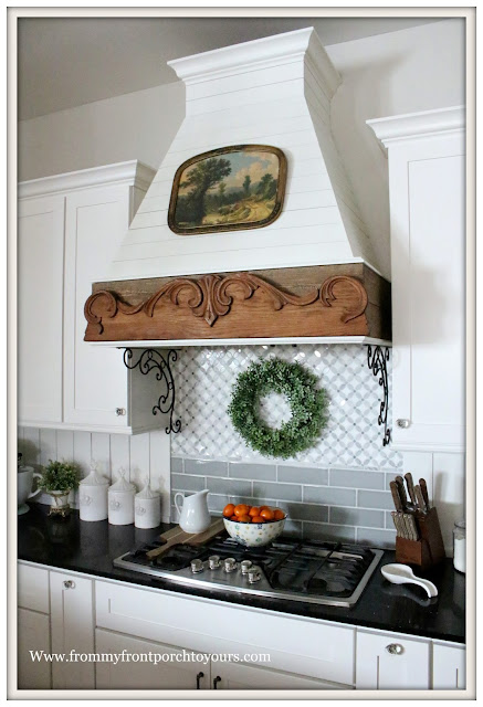 French Farmhouse-French Country Farmhouse Kitchen-Winter Decor-Vintage Style-From My Front Porch To Yours