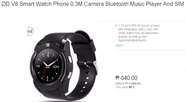DD V8 Smart Watch Phone 0 3M Camera Bluetooth Music Player And SIM