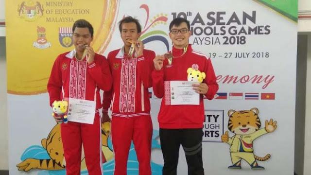 Tim Indonesia Pimpin Perolehan Medali di Kejuaraan Renang Pelajar ASEAN