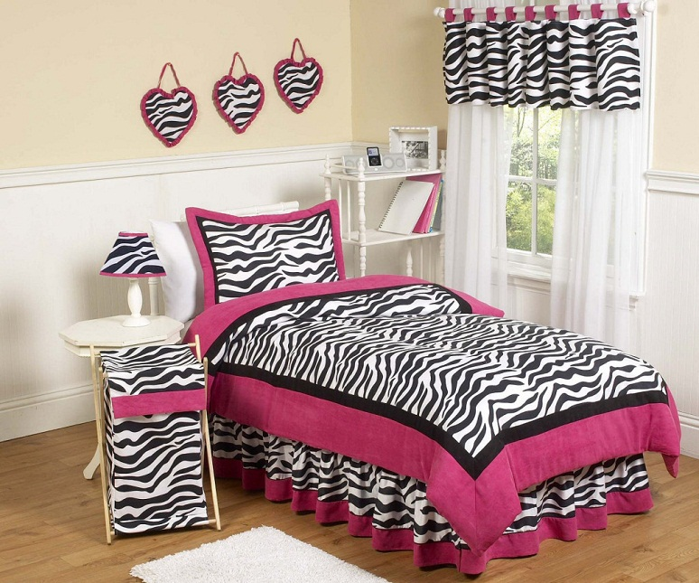 pink zebra bedroom design ideas
