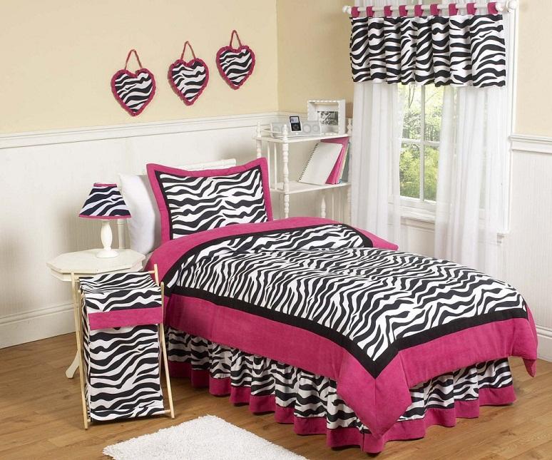 pink zebra bedroom design ideas