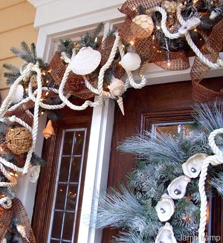 Christmas Front Doors With A Nautical And Coastal Theme