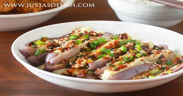 Korean-Style Steamed Eggplants Recipe
