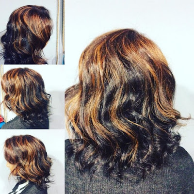6 Hot Partial Highlights Ideas for Brunettes 3 - Partially Foiled Loose Waves