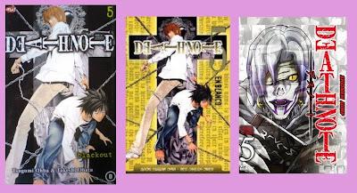 portadas del cómic manga de fantasía y suspense Death note 5