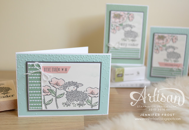Stampin' Up! Birthday Blooms and Easter Lamb designs by Jennifer Frost