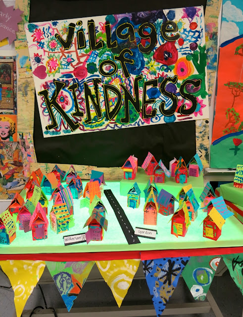 Collaborative Classroom Art Project ~ Cassie stephens in the art room school wide