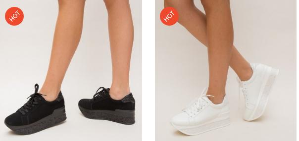 Adidasi dama cu platforma moderni fashion 2019 ieftini