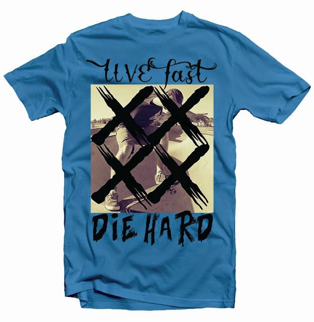 live fast skate tshirt design