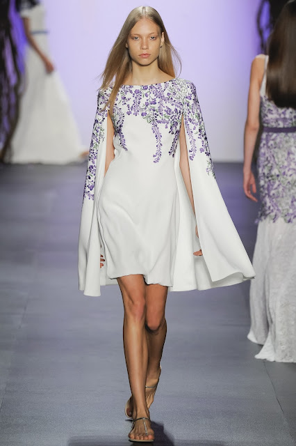 designer Tadashi Shoji was inspired by Japanese Wisteria Gardens for his Spring Summer 16 collection