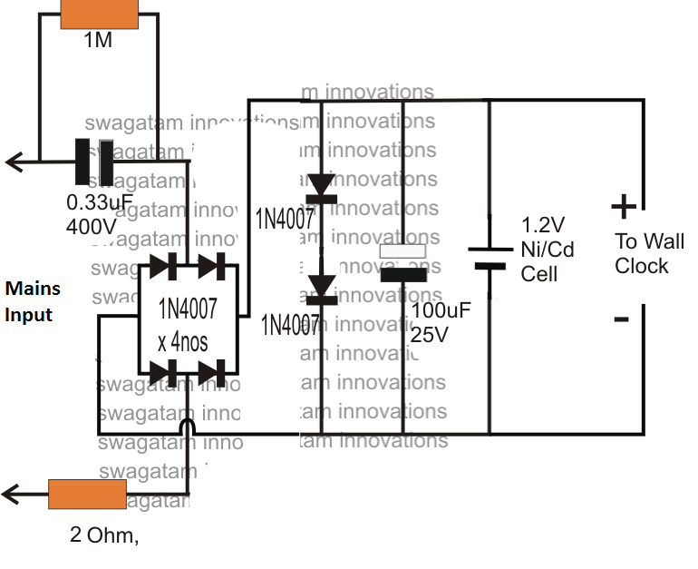 1.5V Power Supply Circuit for Wall Clock