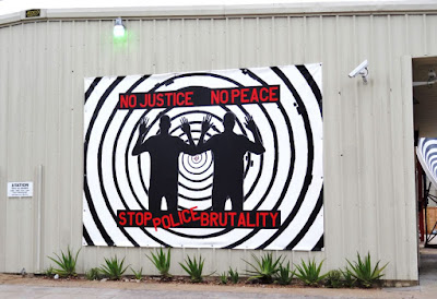 No Justice - No peace - Mural against police brutality