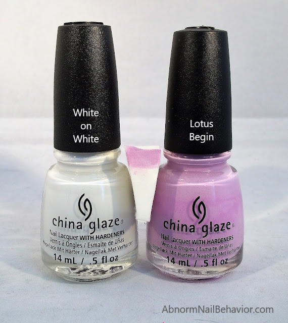 ombre nails white and purple polish