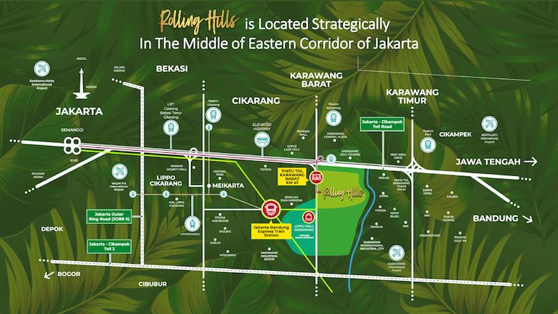 Peta Lokasi Rolling Hills Karawang