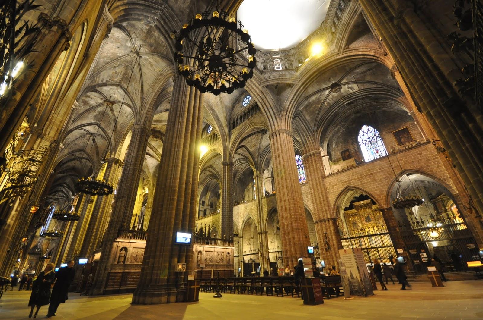 Historia Del Arte Temas Imágenes Y Comentario Catedral De Barcelona Y Sta María Del Mar
