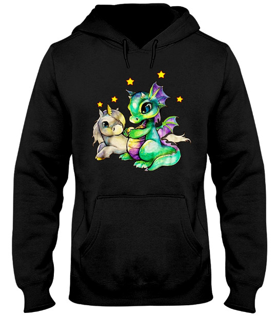 Unicorn and Dragon Hoodie, Unicorn and Dragon Sweatshirt, Unicorn and Dragon t shirt