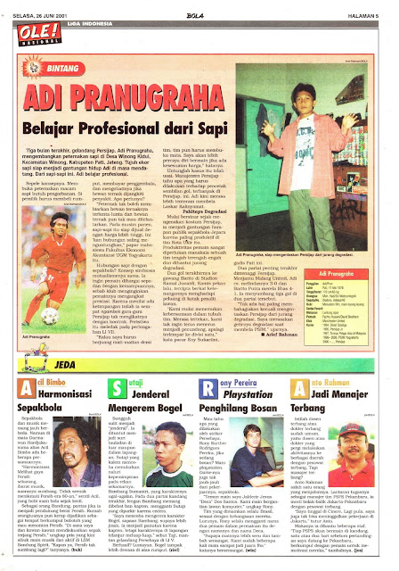 PROFIL BINTANG LIGA INDONESIA ADI PRANUGRAHA